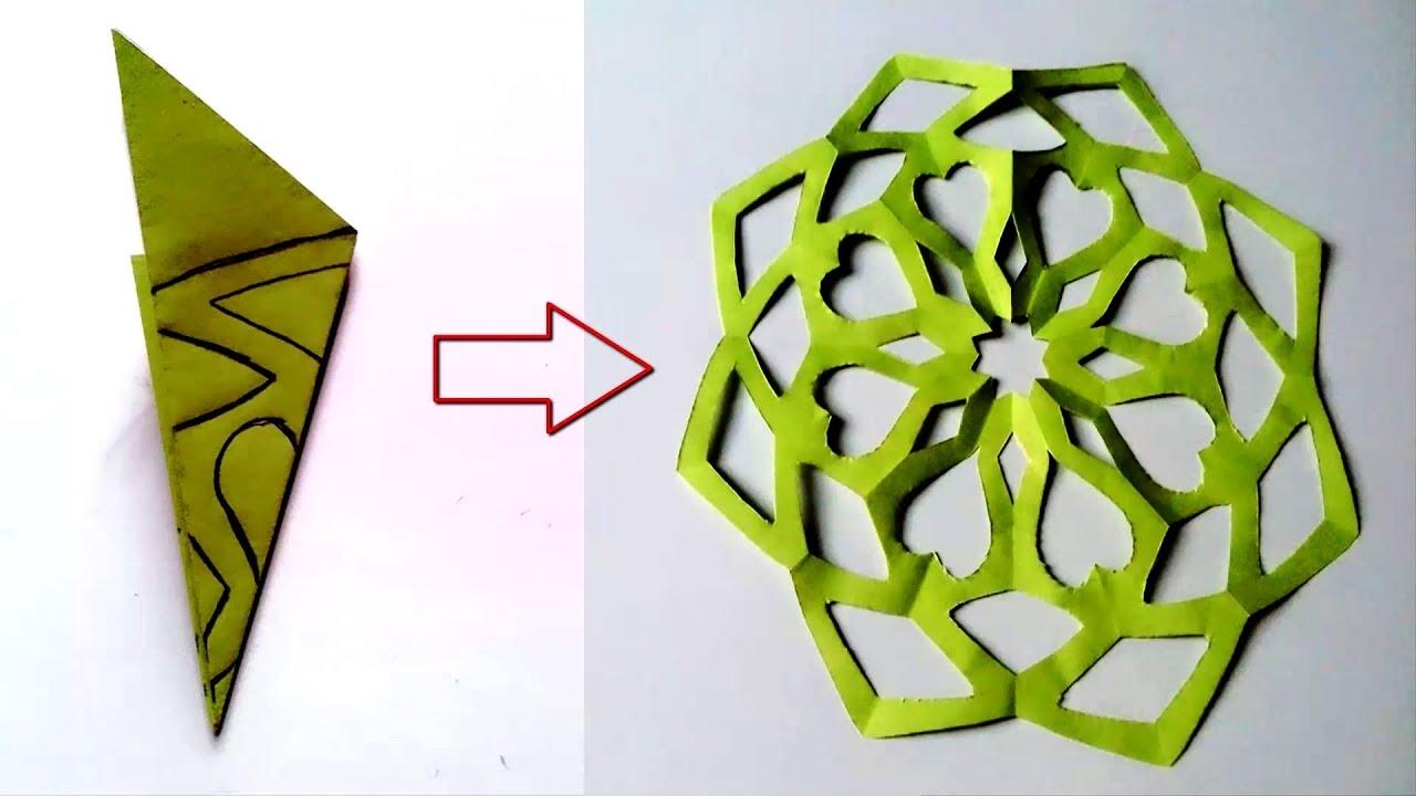 Paper Cutting Design Easy Paper Cutting Craft Design Youtube