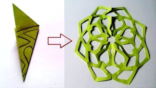 Paper Cutting Design/ Easy Paper Cutting Craft Design