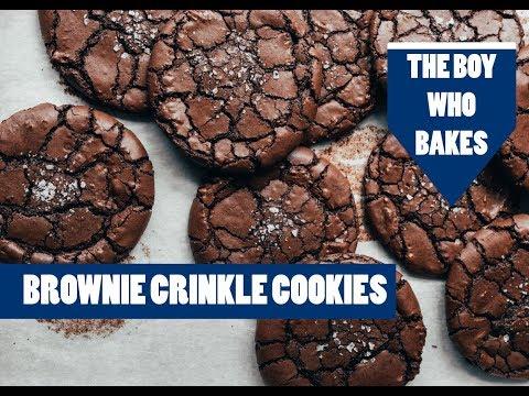 Brownie Crinkle Cookie Recipe - The Boy Who Bakes