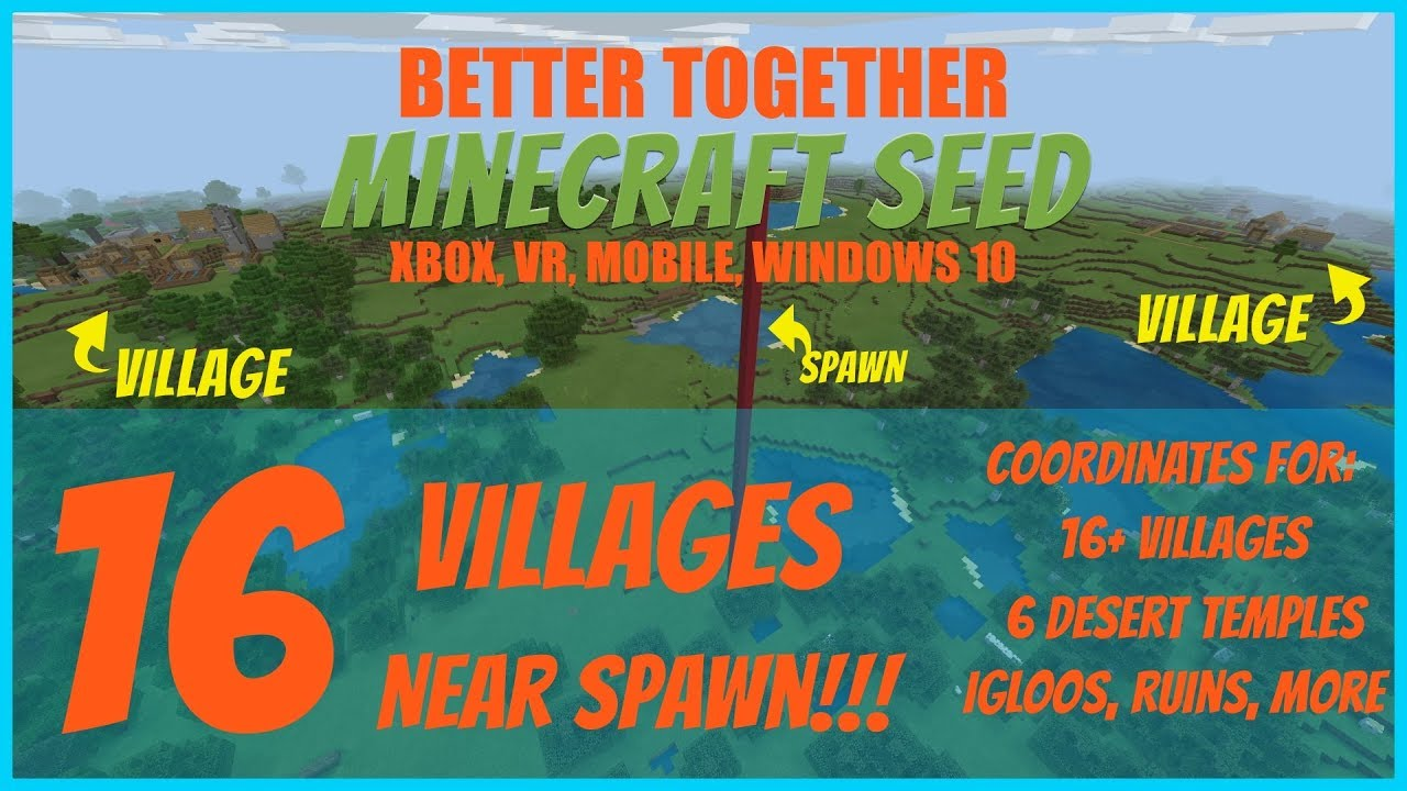 8 Villages Near Spawn Seed Minecraft Better Together July 8 8