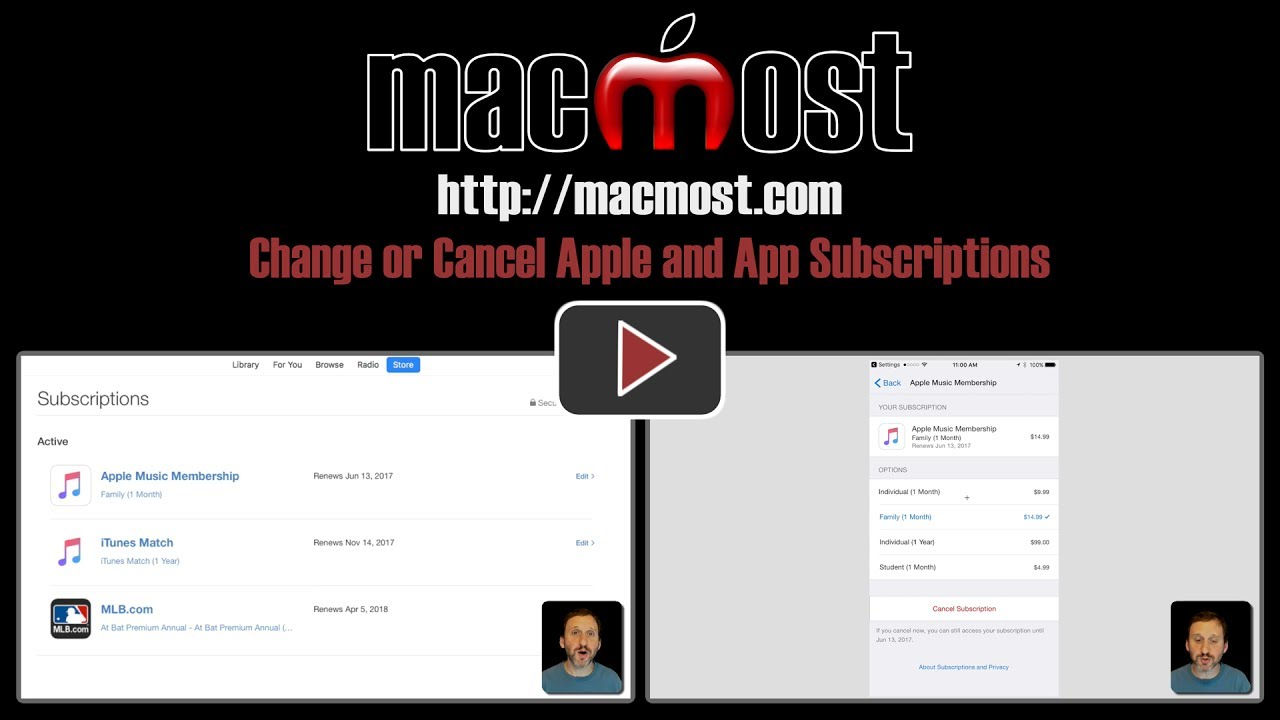 how to cancel app subscription apple
