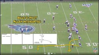 Bills QB Josh Allen Hesitant   D-Pivot Interception