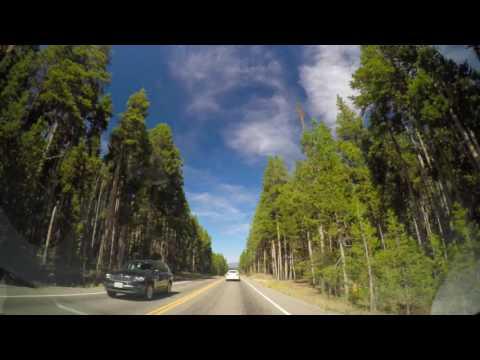 Driving through Yellowstone National Park - 4K Dashcam Hyperlapse