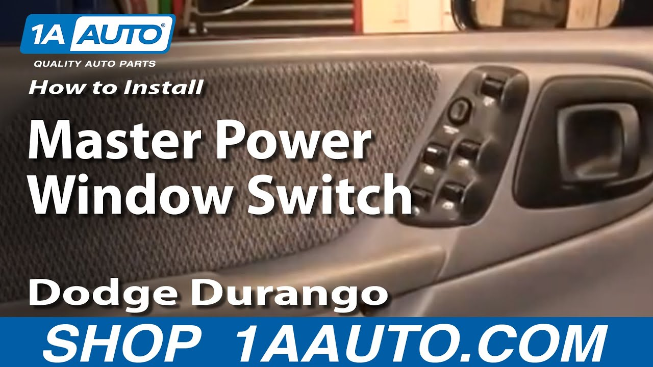 how to replace master power window switch 98-00 dodge durango