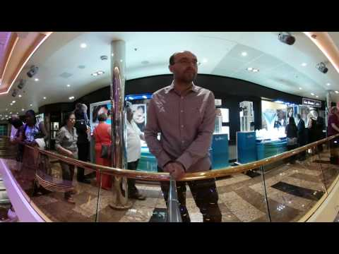 Carnival Sunshine - lobby & shops - 360 video