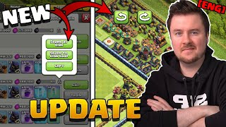 Base Rotation, Share Your Army and much more | Summer Update Sneak Peek #4 | Clash of Clans English