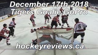 December 17th 2018 Tigers Hockey Goalie GoPro