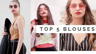 TOP 5 MUST HAVE SHIRTS  BLOUSES   DAY 24   TEJASWI