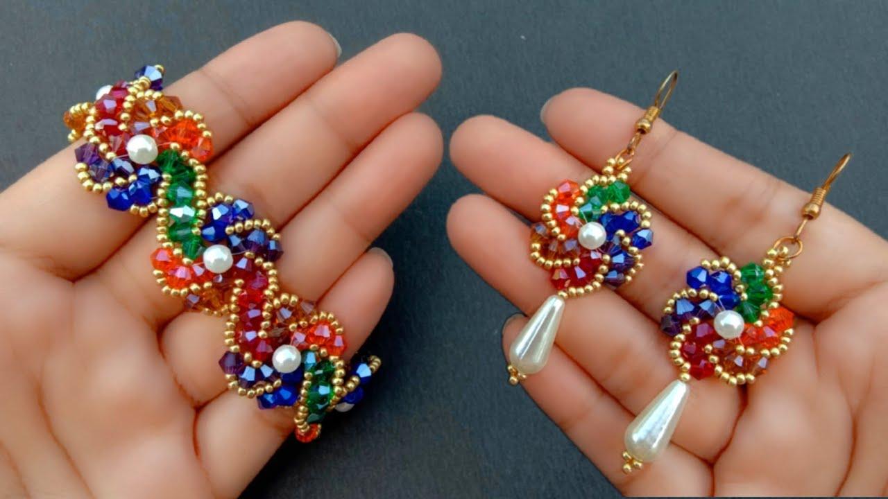 Beaded Jewelry DIVA//Bracelet & Earrings//Handmade Jewelry Tutorial// Useful & Easy