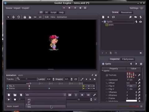Godot Engine - setting the animation for a sprite!