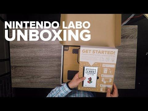 Unboxing Nintendo Labo