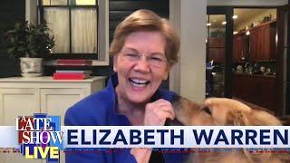 Sen. Elizabeth Warren Previews Her DNC Appearance With Her Dog Bailey!