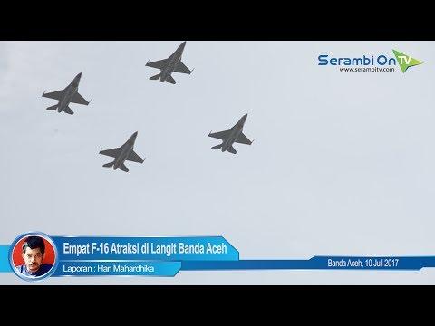 HUT Bhayangkara, Empat F 16 Atraksi di Langit Banda Aceh