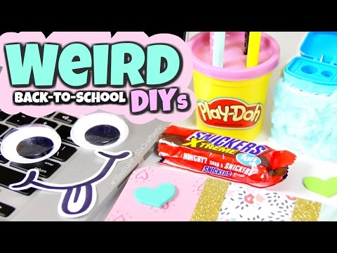 7 DIY Weird Back to School Supplies You Need to Try! Squishy Candy Bar USB & More! Easy & Affordable