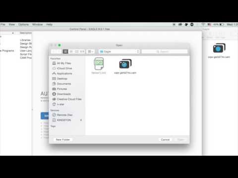 How to Create a Gerber File Using Eagle on Mac OSX .. - YouTube