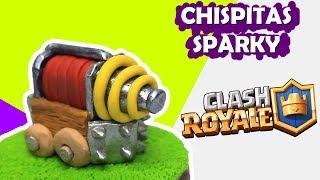 Sparky (Clash Royale) Tutorial de Plastilina