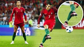 Why is Cristiano Ronaldo always taking his free kicks like this? - Oh My Goal