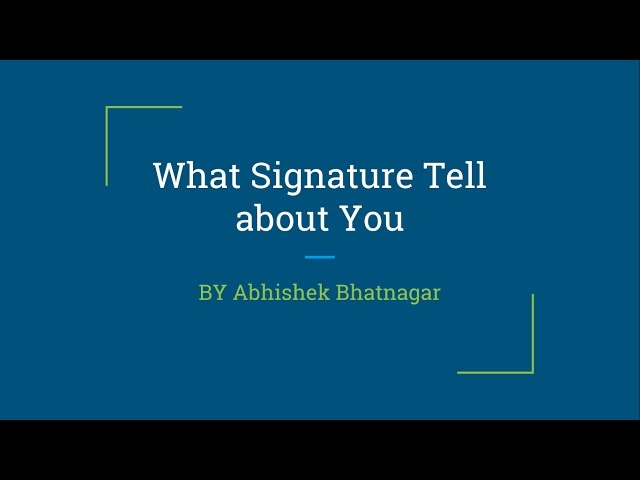 What your Signature tells about your personality |  ???? ????  ????????? ???? ???? ?? ???? ???