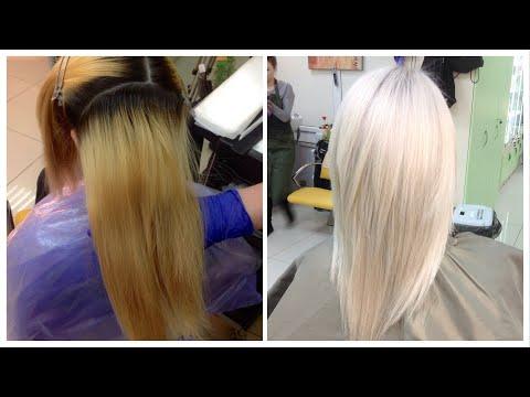 Окрашивание волос: из желтого в холодный блонд // Hair Coloring: Cold Blond
