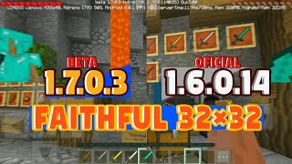 SAIU! TEXTURA FAITHFUL 32x32 PARA MINECRAFT PE 1.7.0.3/1.6.0.14 OFICIAL (Pocket Edition)