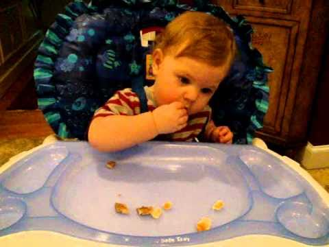 10-Month-Old Baby Corbin Enjoys Feeding Himself - YouTube