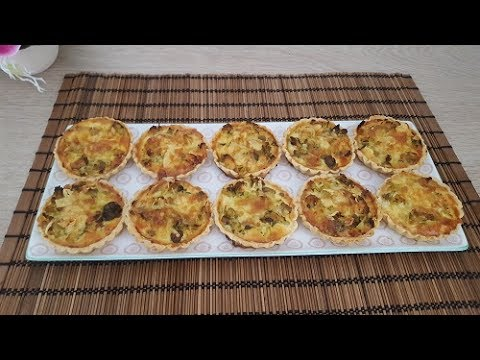 mini-quiches-aux-poulets-et-champignons|كيش-صغير-بالدجاج-والفطر