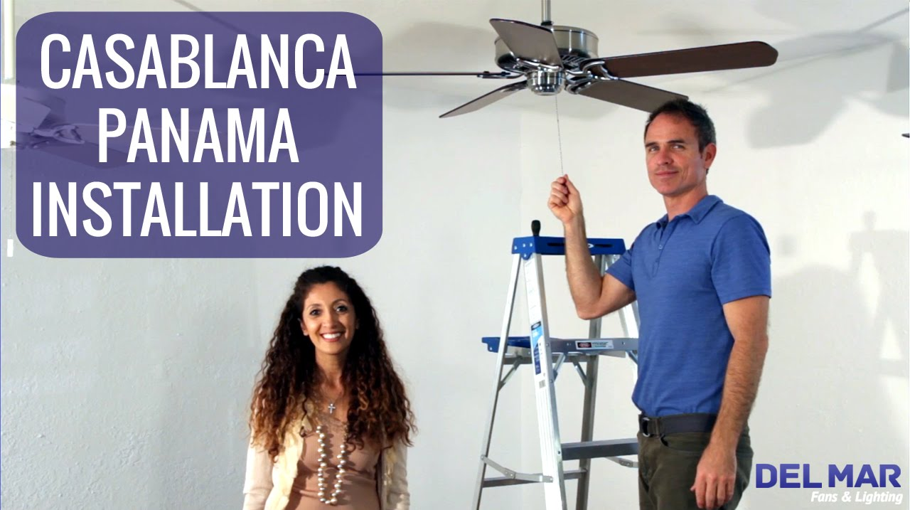 Casablanca Panama Ceiling Fan Installation - YouTube on casablanca ceiling fan controls, casablanca ceiling fan operation, casablanca ceiling fan capacitor, hunter fan wiring schematic, casablanca ceiling fan repair,