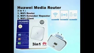 Tutorial Wifi Repeater UnBOXING HUAWEI WS322 Wifi Extender & Setting