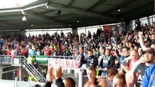 Uitvak Heracles - Feyenoord 26-08-12 Heracles supporter draait door na de wedstrijd