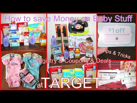 How To Save Money on Baby Stuff at Target- Free Stuff, Coupons, Resistry Discount