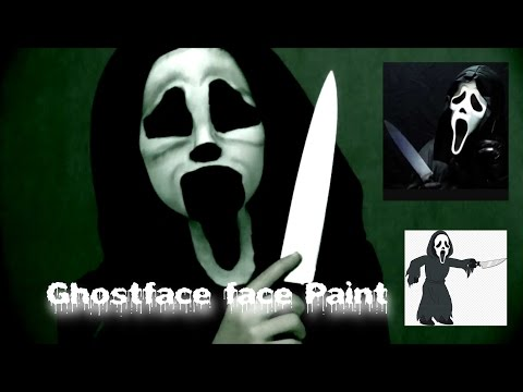 Kids Face Paint : Scream Mask / Ghost Face