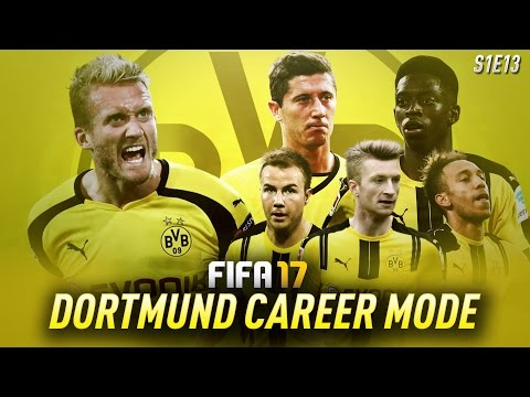 DONT MISS THIS EPISODE! FIFA 17: Dortmund Career Mode - LEWANDOWSKI HAT TRICK!! - S1E13