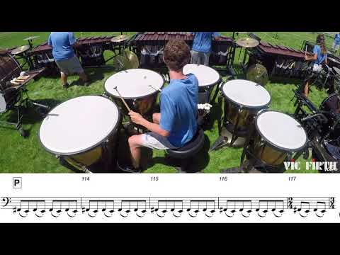 "2018 Blue Knights Timpani - LEARN THE MUSIC to ""Fall and Rise"""