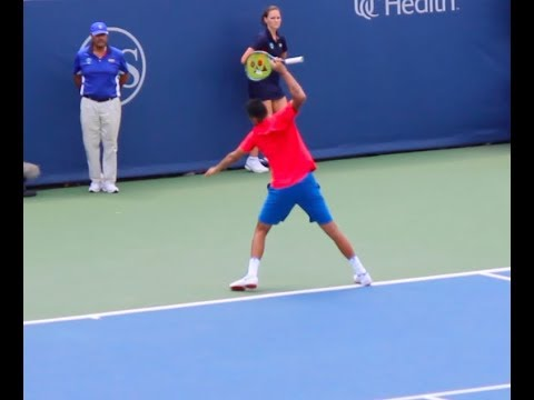 KYRGIOS RACKET THROW - Western and Southern Open - Day 2