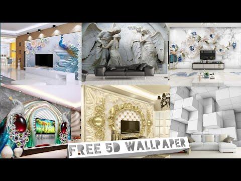 Latest 5d Wallpaper Murals For Wall, 3D Wallpaper For Wall, 5D Wallpaper Desgin, Paradise Decor,