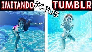IMITANDO FOTOS TUMBLR NA PISCINA 3 - Muita Diversão !