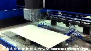marble granite washbasin kitchen countertops engraving machine video stone cutting machine heavy sto