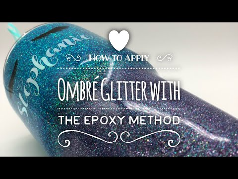 DIY: How to Apply Ombre Glitter with the Epoxy Method