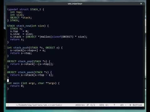 Creating a VM / Compiler Episode 1: Bytecode VM