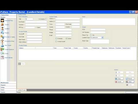 eDuce Property Rental Management Software (3/3) Add a Landlord