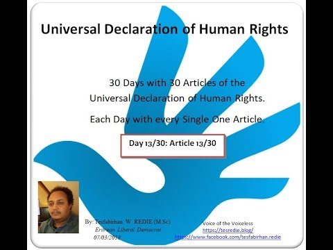 Universal Declaration of Human Rights in Tigrigna (Article - ዓንቀጽ 13)