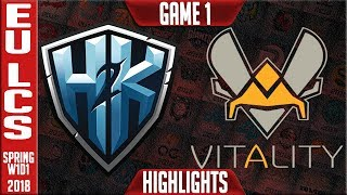 H2K vs VIT Highlights | EU LCS Spring 2018 W1D1 | H2K vs Vitality thumbnail