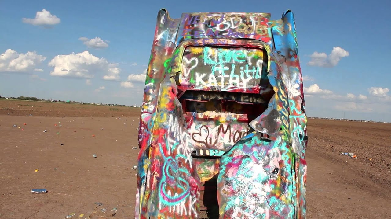 Cadillac Ranch On Route 66 Top 10 Usa Roadside Attractions Youtube