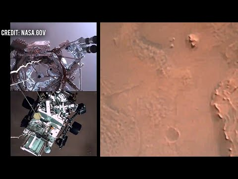 NASA's first Mars video by Perseverance Rover 2021