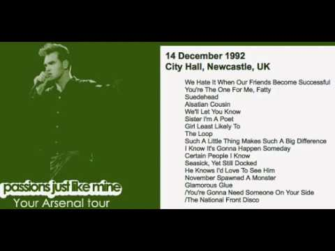 MORRISSEY - December 14, 1992 - Newcastle, England, UK (Full Concert) LIVE