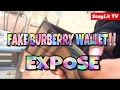 FAKE BURBERRY WALLET!!!