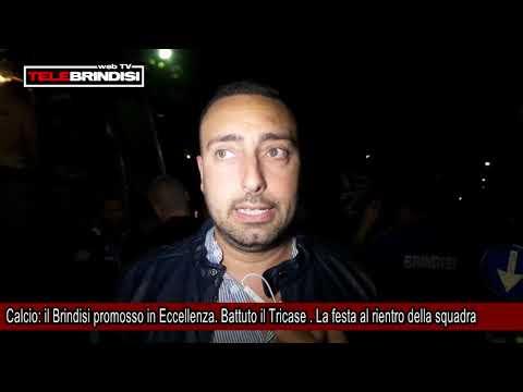 Calcio, il Brindisi promosso in Eccellenza  Battuto il Tricase   La festa al rientro della squadra