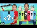 MYSTERY ROULETTE CANDY DISPENSER CHALLENGE! WHO WINS THE MYSTERY BOX?