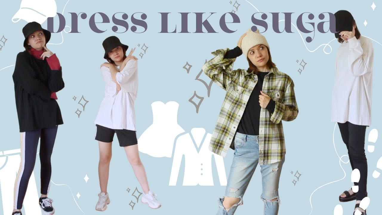 How to DRESS LIKE BTS - Suga outfit inspiration | BTS fashion