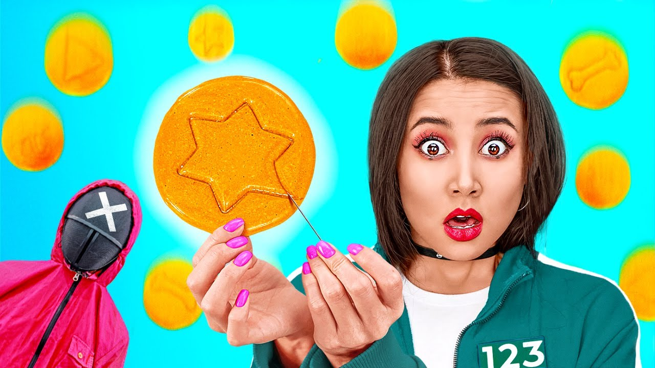 Download TRYING THE SQUID GAME || Honeycomb Candy Challenge! How to Get Popular in Jail by 123 GO!